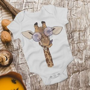 Other - Giraffe Baby Bodysuit